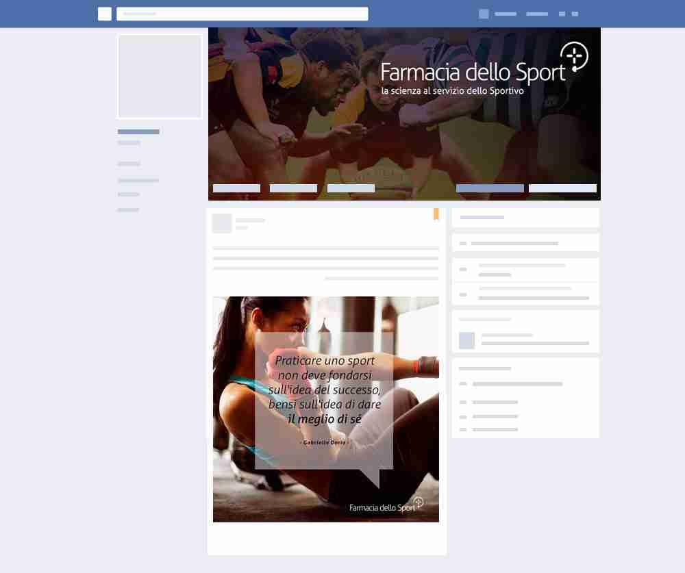 facebook farmacia dello sport gestione social