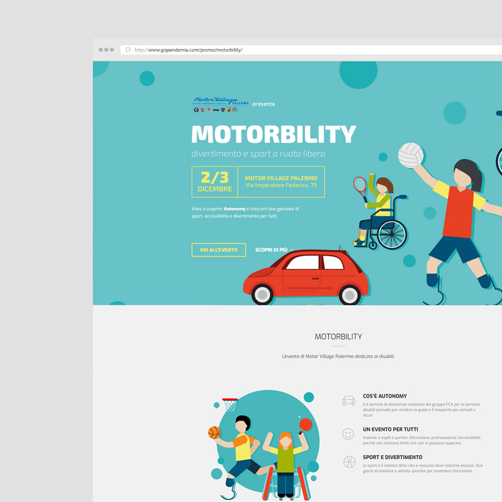 Landing Page Motorbility