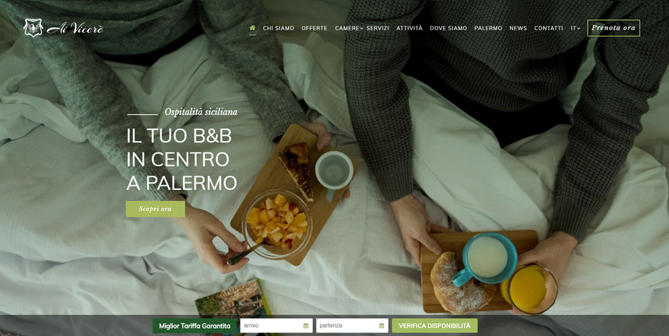 Sito Web per Bed and Breakfast