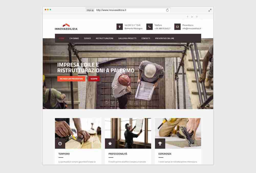 Creazione sito web per impresa edile