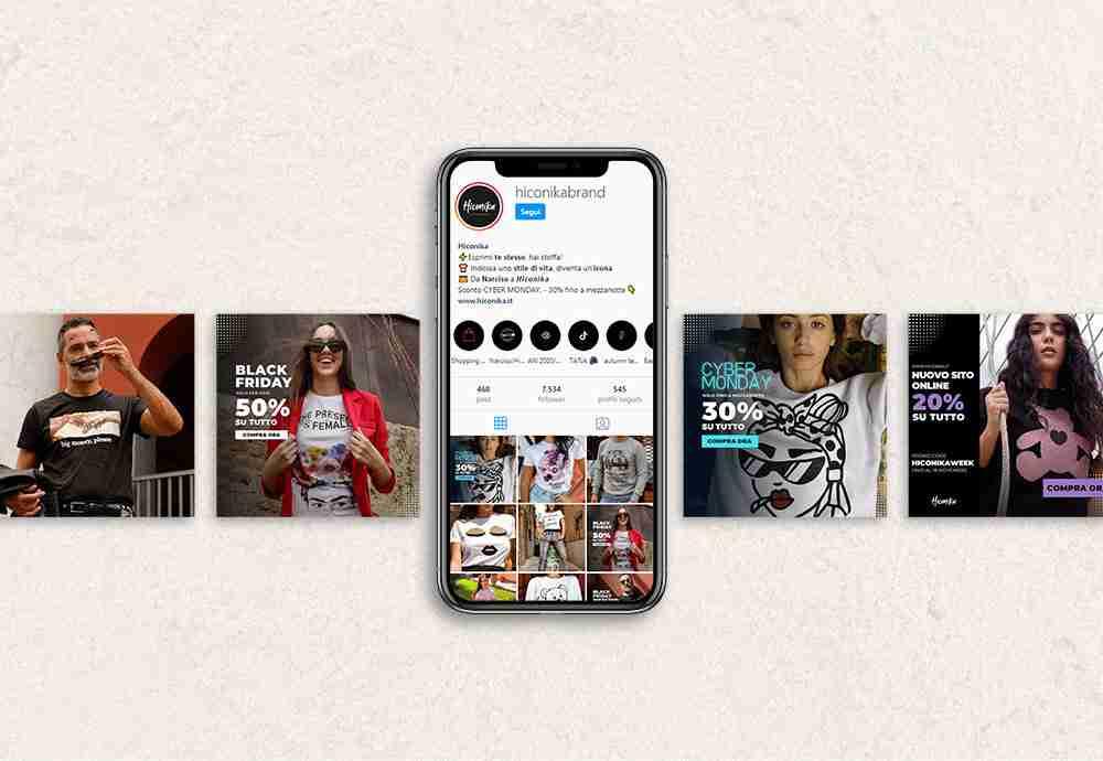 Creazione e-commerce e social strategy per brand moda